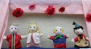 Zauberer am Kindergeburtstag Puppen