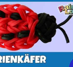 Marienkäfer aus Gummibändern